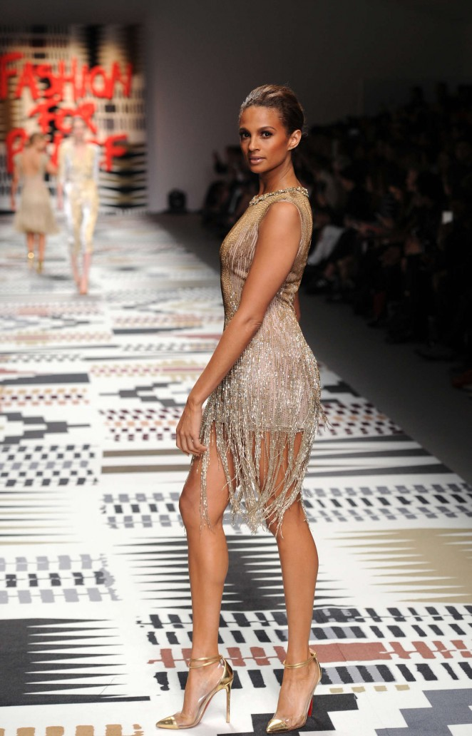 Alesha Dixon - Fashion For Relief Charity Fashion Show 2015 in London