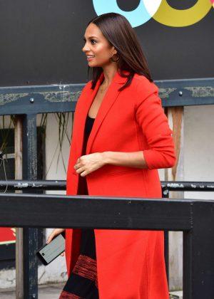 Alesha Dixon in Red Coat at ITV Studios in London