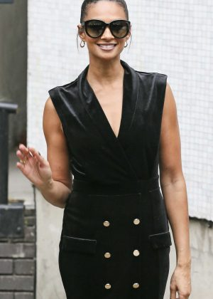 Alesha Dixon Leaving the ITV studios in London
