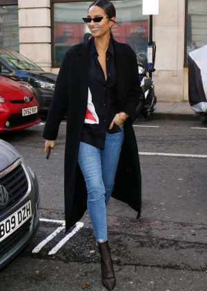 Alesha Dixon - Out and about in London