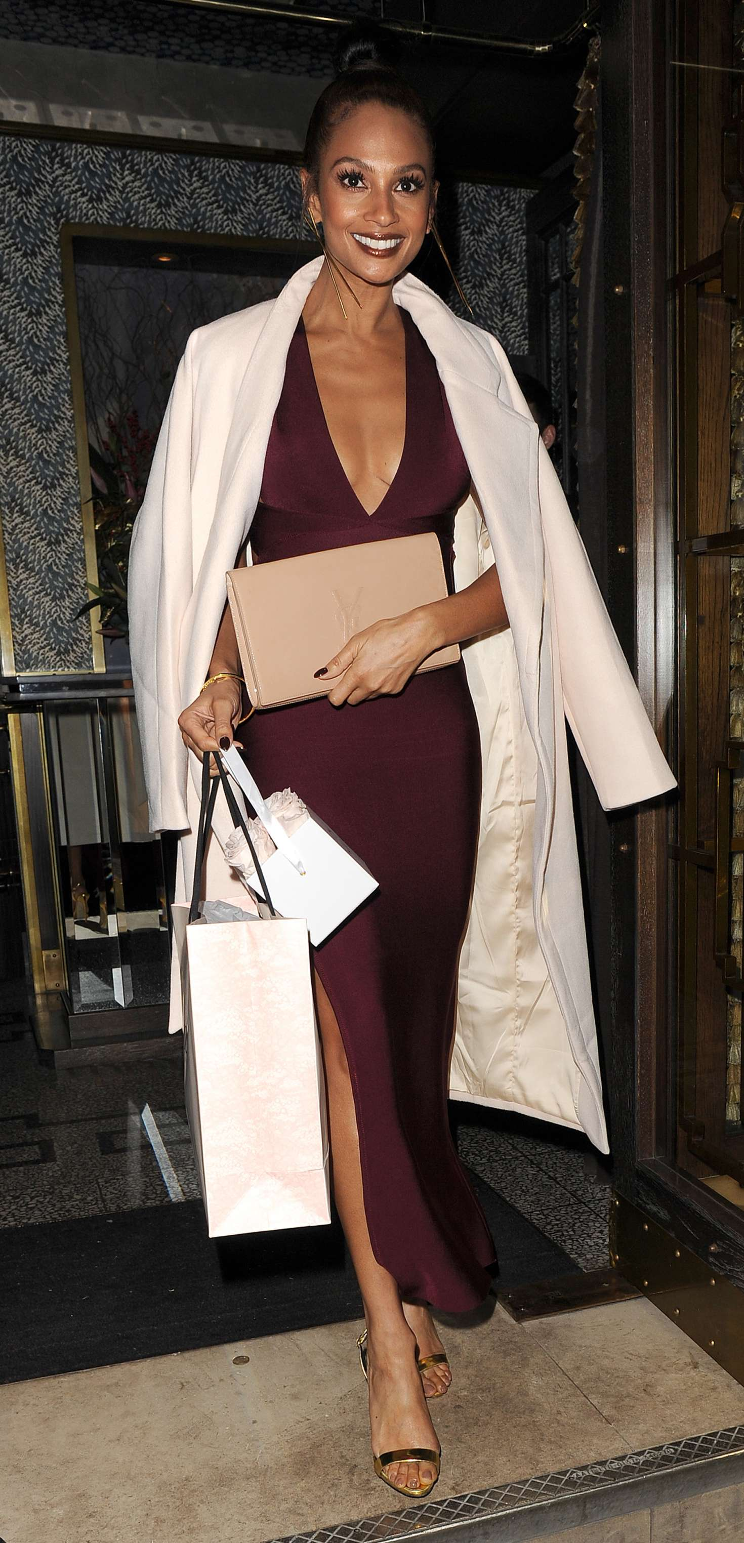 2ab3a70abf5 Alesha Dixon  Private dinner party at Bob Bob Ricard restaurant -02 ...