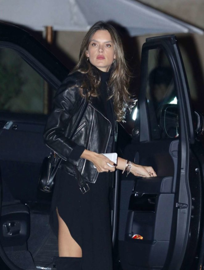 Alessandra Ambrosia out for a dinner in Malibu
