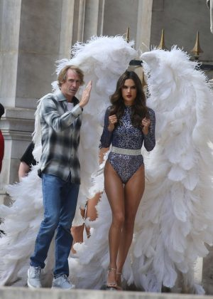 Alessandra Ambrosio - 2016 Victoria's Secret photoshoot in Paris