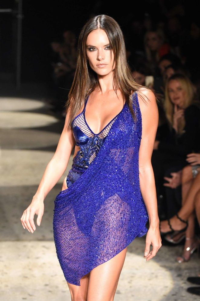 Alessandra Ambrosio - 2017 Julien Macdonald Show at London Fashion Week