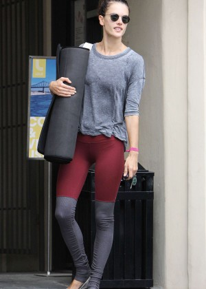 Alessandra Ambrosio - After Yoga in Brentwood