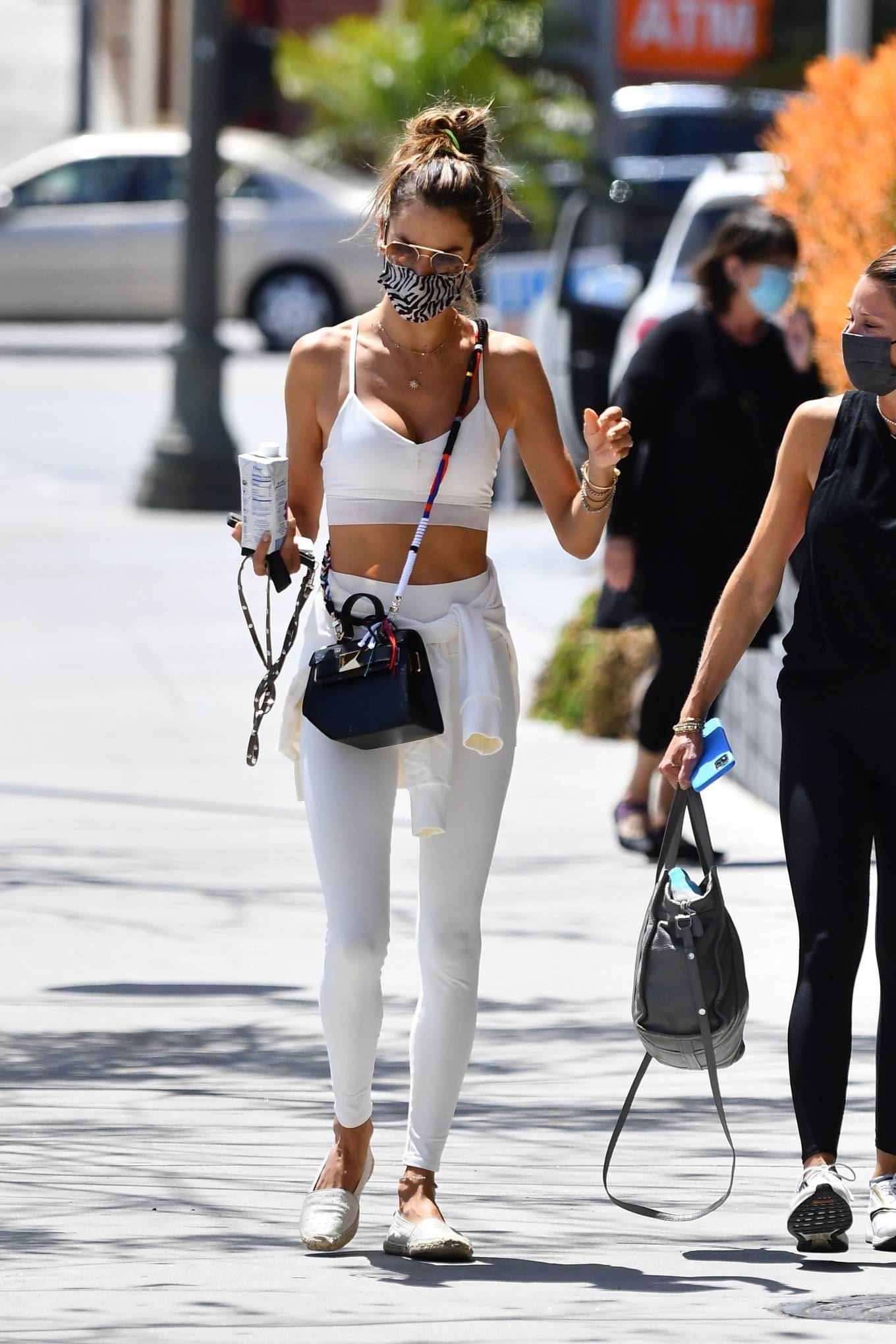 Alessandra Ambrosio 2021 : Alessandra Ambrosio – Ahead of her daily workout in Brentwood-05