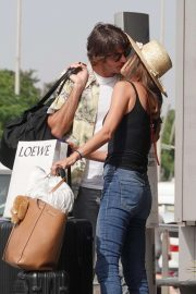 Alessandra Ambrosio and Nicolo Oddi - Arrived at Ibiza Airport