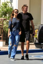 Alessandra Ambrosio and Nicolo Oddi at Sunset Plaza in West Hollywood