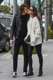Alessandra Ambrosio and Nicolo Oddi - Christmas Shopping in Beverly Hills