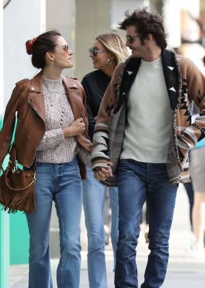 Alessandra Ambrosio -and Nicolo Oddi go to the Hillstone Restaurant in Santa Monica