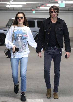 Alessandra Ambrosio and Nicolo Oddi - Head to the movies in Century City