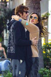 Alessandra Ambrosio and Nicolo Oddi - Leaves a romantic lunch date at Gjelina in Venice Beach