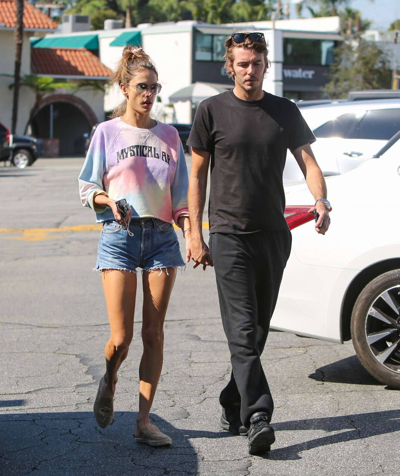 Alessandra Ambrosio and Nicolo Oddi - Out and about in Los Angeles