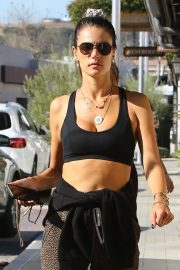 Alessandra Ambrosio - Arrives at a gym in Malibu