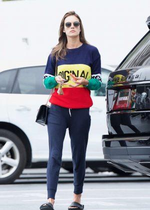 Alessandra Ambrosio - Arrives at a Spa in Santa Monica