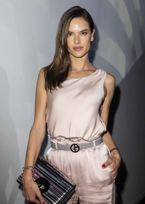 Alessandra Ambrosio - Arrives at Armani Fashion Show in Milan