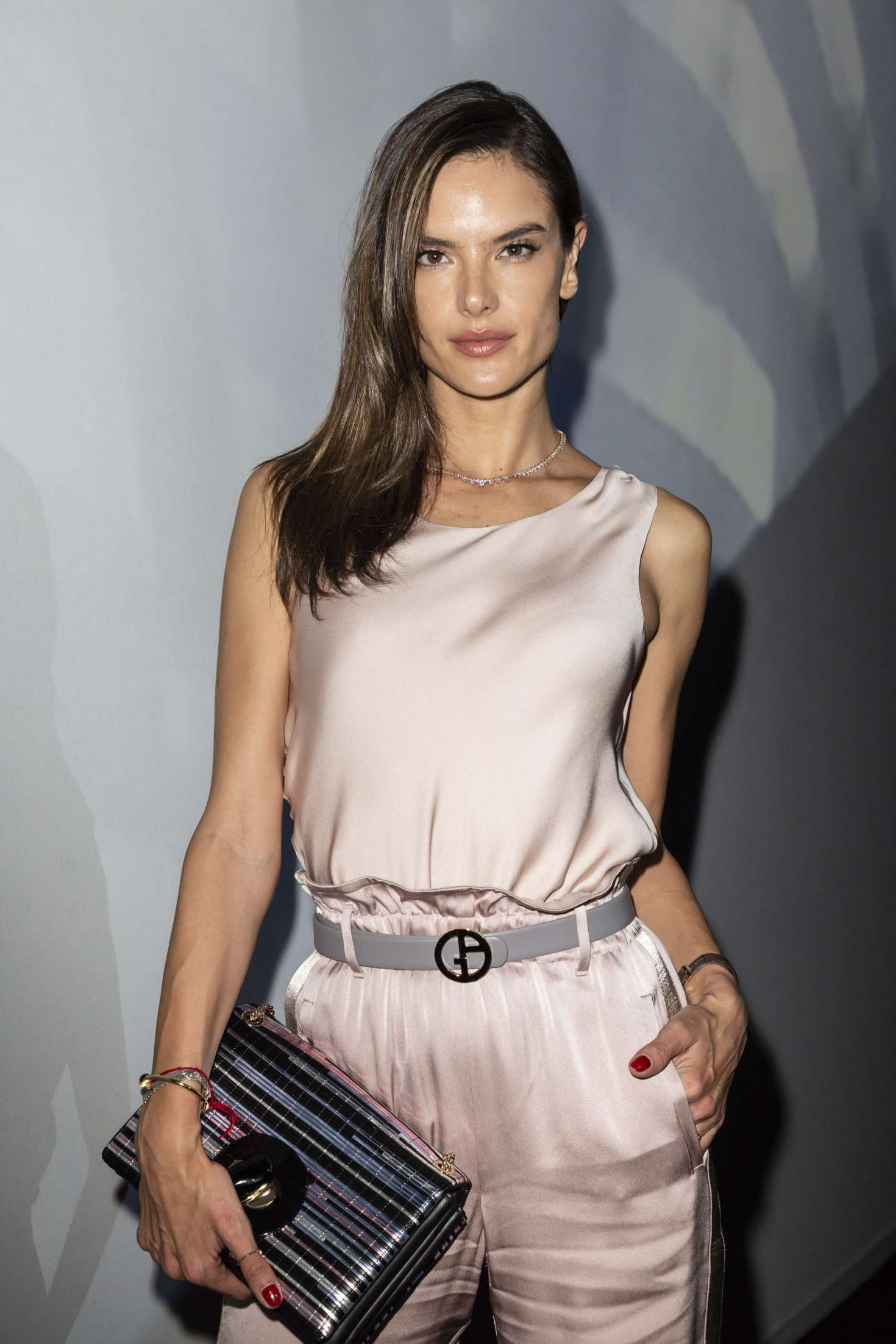 Alessandra Ambrosio – Arrives at Armani Fashion Show in Milan