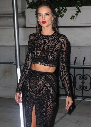 Alessandra Ambrosio - Arrives at Harper's Bazaar ICONS Party in New York