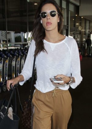 Alessandra Ambrosio Arrives at LAX Airport in LA