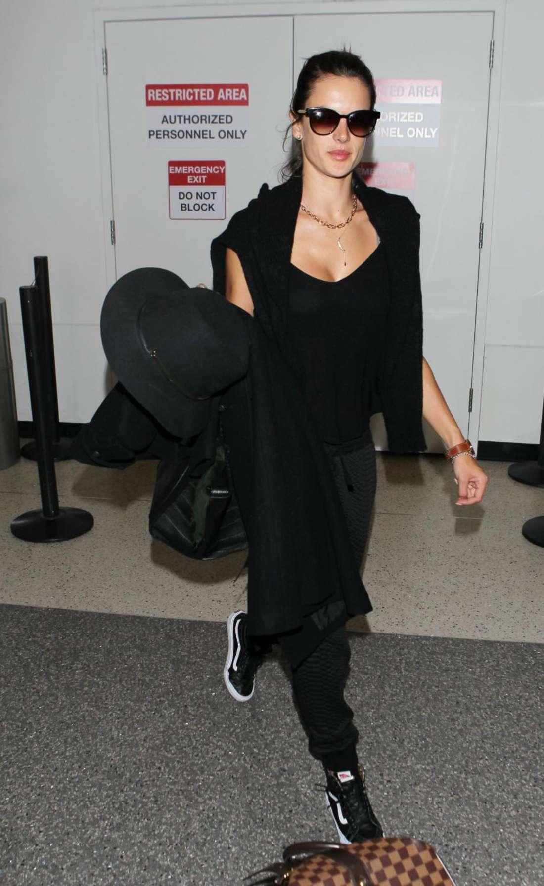 Alessandra Ambrosio - Arrives at LAX Airport in LA