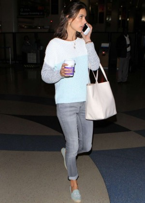 Alessandra Ambrosio - Arrives at LAX Airport in Los Angeles