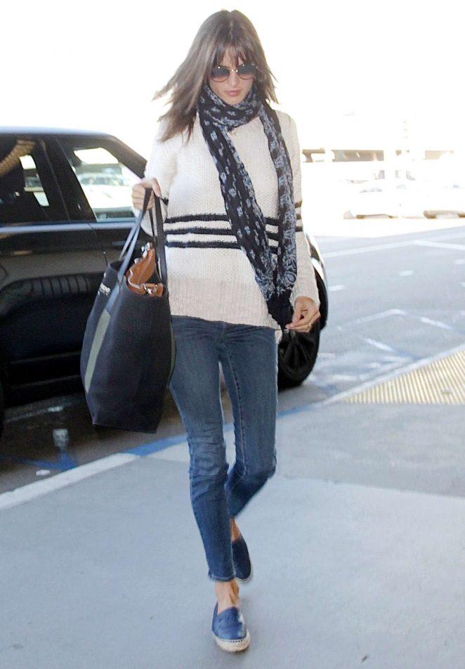 Alessandra Ambrosio - Arrives at Los Angeles International Airport