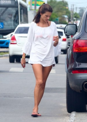 Alessandra Ambrosio Arrives at the Florianopolis in Brazil