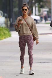 Alessandra Ambrosio - Arrives at the gym in Los Angeles