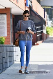 Alessandra Ambrosio - Arrives at Yoga on Hump Day in Los Angeles