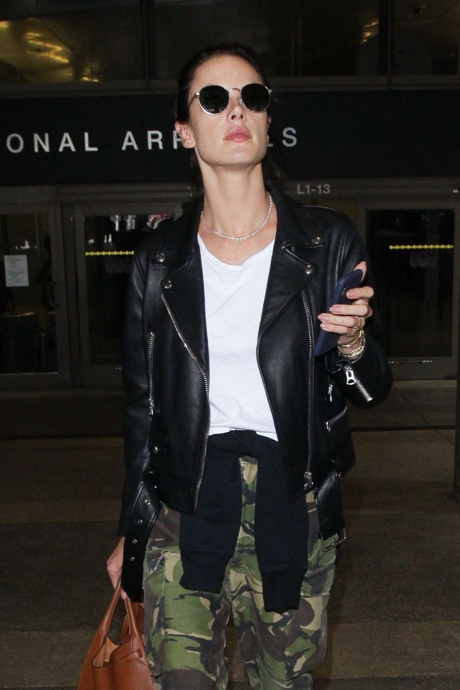 Alessandra Ambrosio - Arriving at LAX Airport in Los Angeles