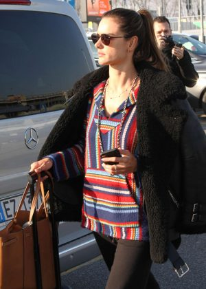 Alessandra Ambrosio – Arriving at Linate Airport in Milan