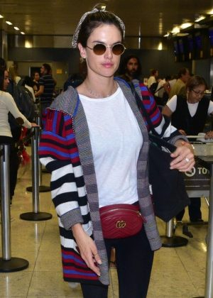 Alessandra Ambrosio - Arriving at Sao Paulo International Airport
