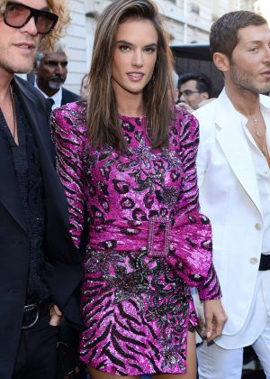 Alessandra Ambrosio - Arriving at Vogue Dinner Party in Paris