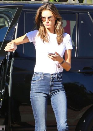 Alessandra Ambrosio - Arriving for her flight out of Los Angeles