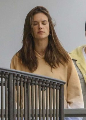 Alessandra Ambrosio at a friend's party in Los Angeles