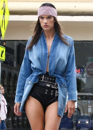 Alessandra Ambrosio at a Photoshoot for Elle Italy in Little Havana