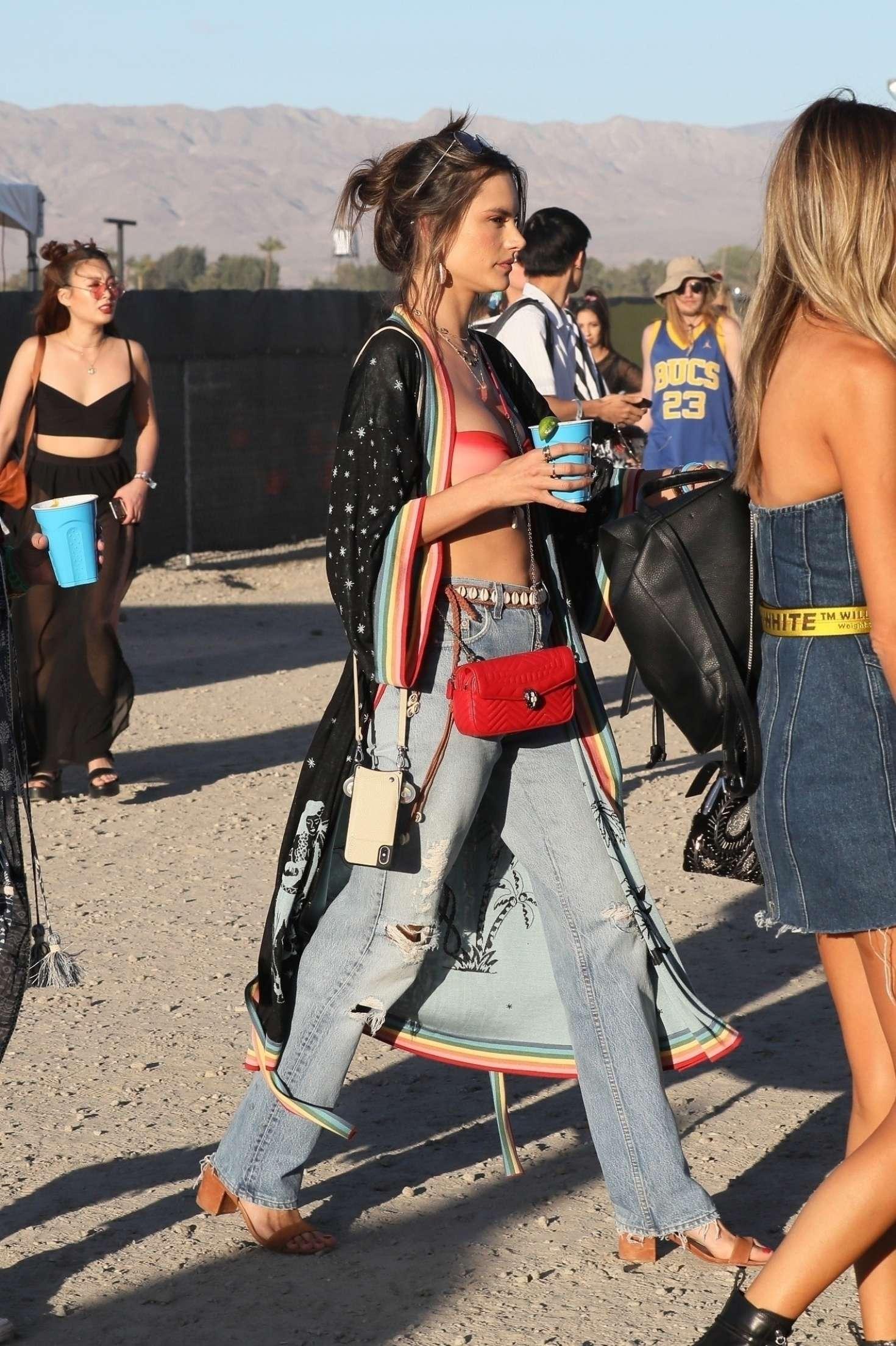 Alessandra Ambrosio at Coachella Valley Music and Arts Festival in Indio