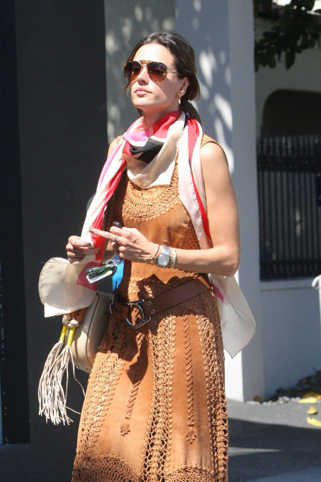 Alessandra Ambrosio at Gracia Madre out in WeHo