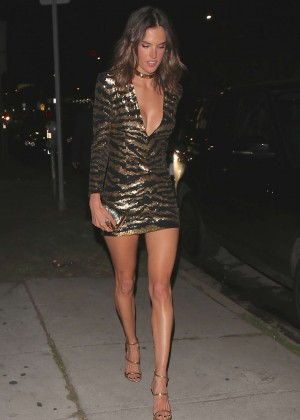 Alessandra Ambrosio at her birthday at Nice Guy in West Hollywood