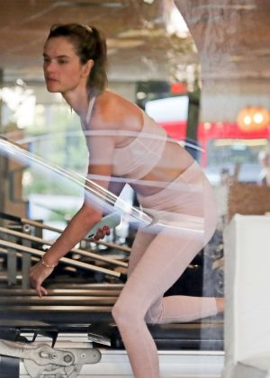Alessandra Ambrosio at her pilates class in Los Angeles