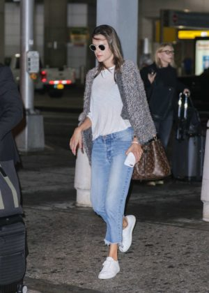 Alessandra Ambrosio at JFK airport in New York City