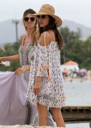 Alessandra Ambrosio at Jurere Beach in Florianopolis