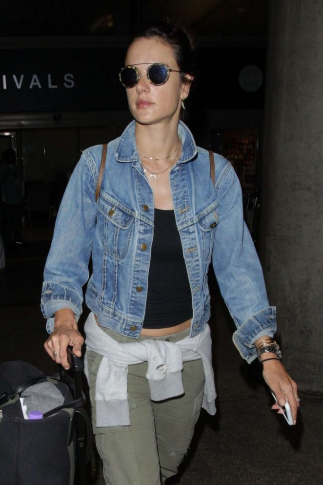 Alessandra Ambrosio at LAX Airport in LA