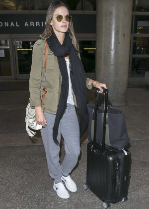 Alessandra Ambrosio at LAX airport in Los Angeles