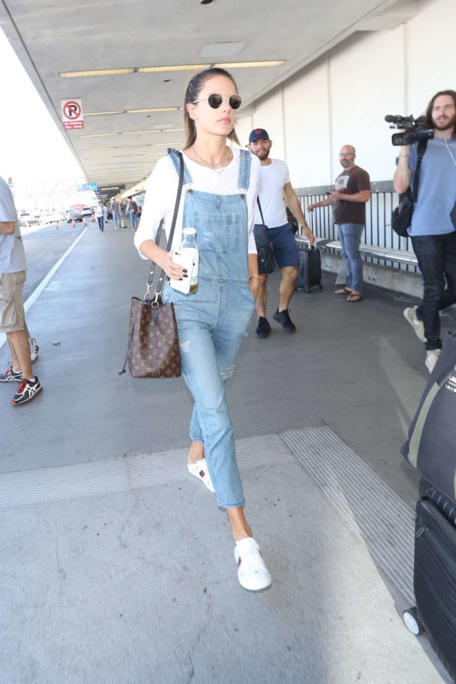 Alessandra Ambrosio at LAX International Airport -03