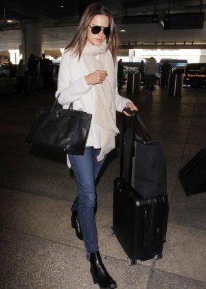 Alessandra Ambrosio at Los Angeles International Airport