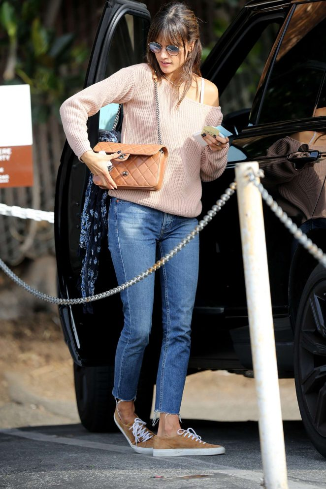 Alessandra Ambrosio at Lunch in Santa Monica