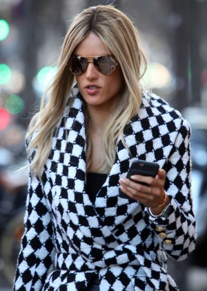 Alessandra Ambrosio at Paris Fashion Week Womenswear 2016 in Paris