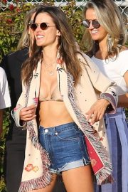 Alessandra Ambrosio at the beach in LA