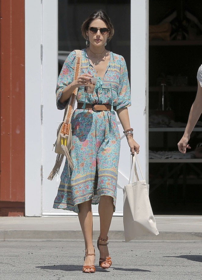 Alessandra Ambrosio at the Brentwood Country Mart -01